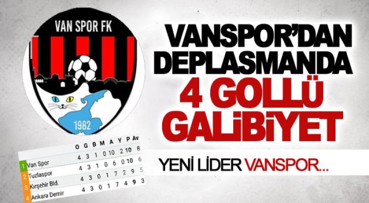Vanspor'dan deplasmanda 4 gollü galibiyet