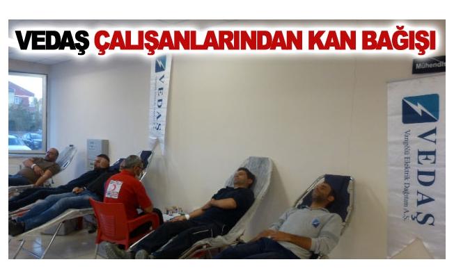 VEDAŞ çalışanlarından kan bağışı