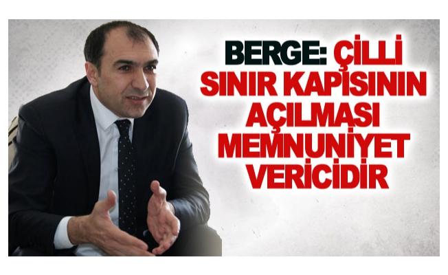 Berge: Çilli sınır kapısının açılması memnuniyet vericidir