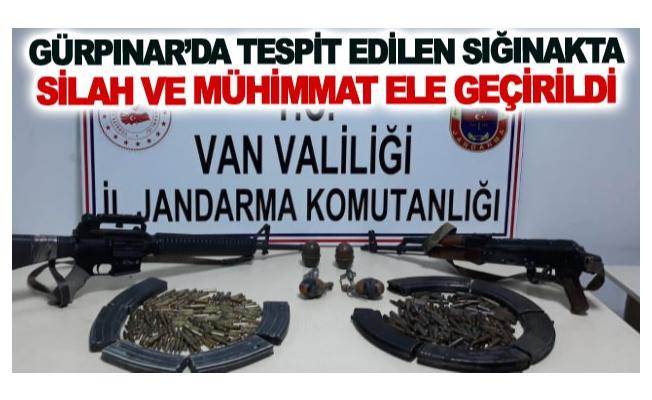 Gürpınar'da tespit edilen sığınakta Silah ve mühimmat Ele geçirildi