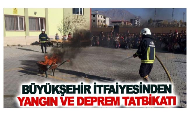 Büyükşehir itfaiyesinden yangın ve deprem tatbikatı