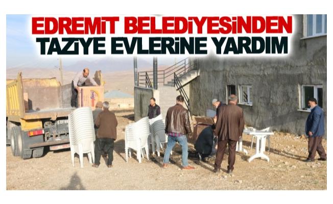 Edremit Belediyesinden taziye evlerine yardım