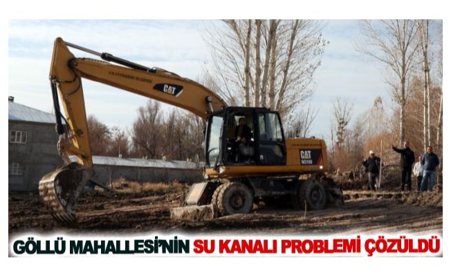 Göllü Mahallesi'nin su kanalı problemi çözüldü