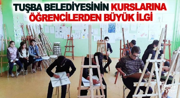Tuşba Belediyesinin kurslarına öğrencilerden büyük ilgi