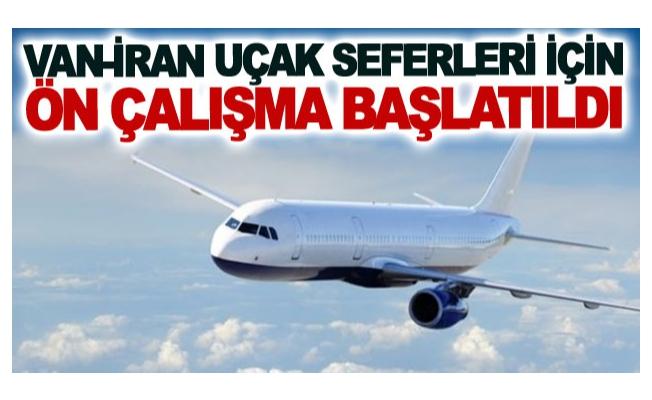 Van-İran uçak seferleri için girişim