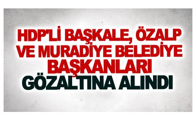 Başkale, Özalp ve Muradiye belediye başkanları gözaltına alındı