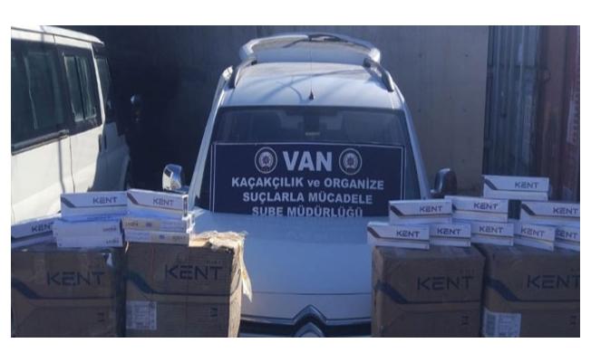 Van'da 189.860 paket kaçak sigara ele geçirildi