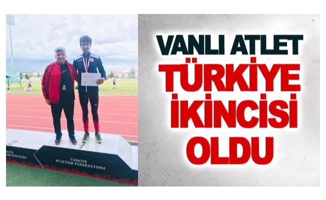 Vanlı atlet Türkiye ikincisi oldu