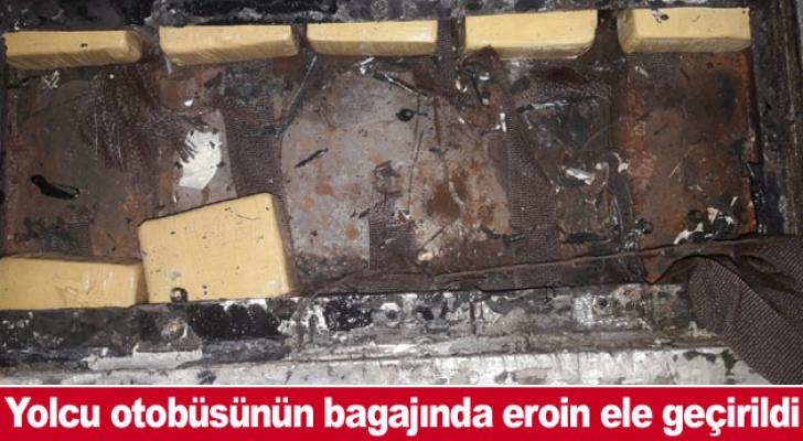 Yolcu otobüsünün bagajında eroin ele geçirildi