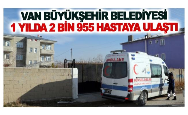 Büyükşehir belediyesi 1 yılda 3 bin 500 hastaya ulaştı