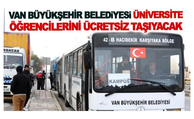 Büyükşehir üniversite öğrencilerini ücretsiz taşıyacak