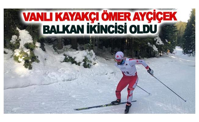 Vanlı kayakçı Ömer Ayçiçek balkan ikincisi