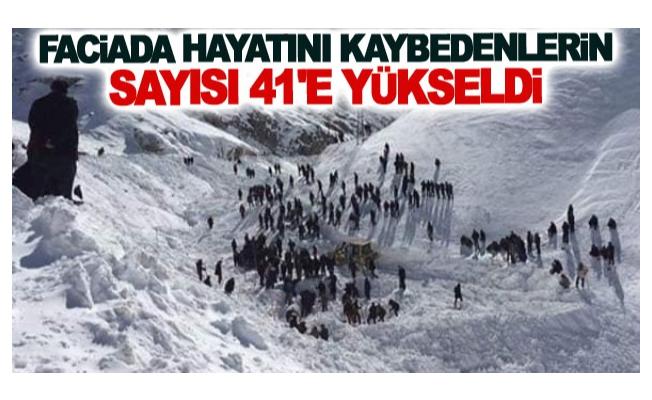 Faciada hayatını kaybedenlerin sayısı 41 oldu