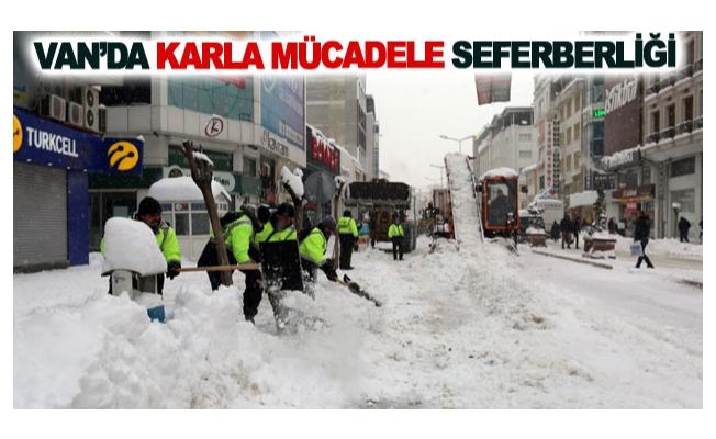 Van'da karla mücadele seferberliği