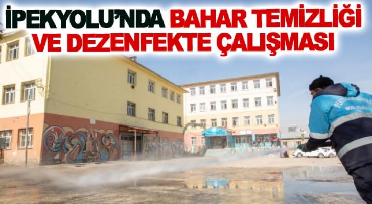 İpekyolu'nda bahar temizliği ve dezenfekte çalışması