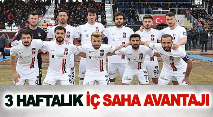 Vanspor'da 3 haftalık iç saha avantajı