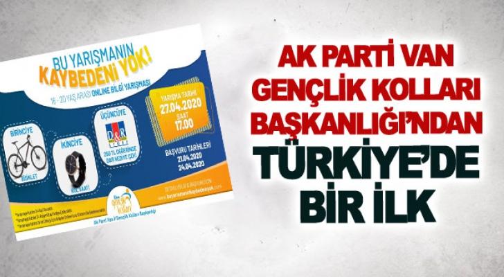 Ak parti Van Gençlik Kolları Başkanlığı'ndan Türkiye'de bir ilk