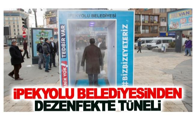 İpekyolu Belediyesinden dezenfekte tüneli