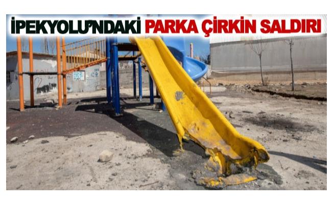 İpekyolu'ndaki parka çirkin saldırı