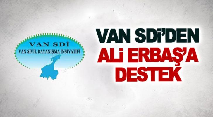 Van SDİ'den Ali Erbaş'a destek