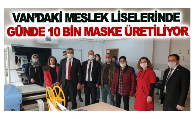 Van'daki meslek liselerinde günde 10 bin maske üretiliyor