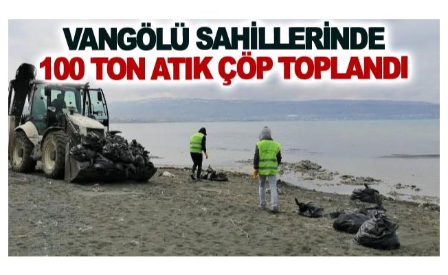 Vangölü sahillerinde 100 ton atık çöp toplandı