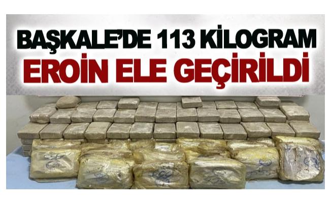 Başkale'de 113 kilogram eroin ele geçirildi
