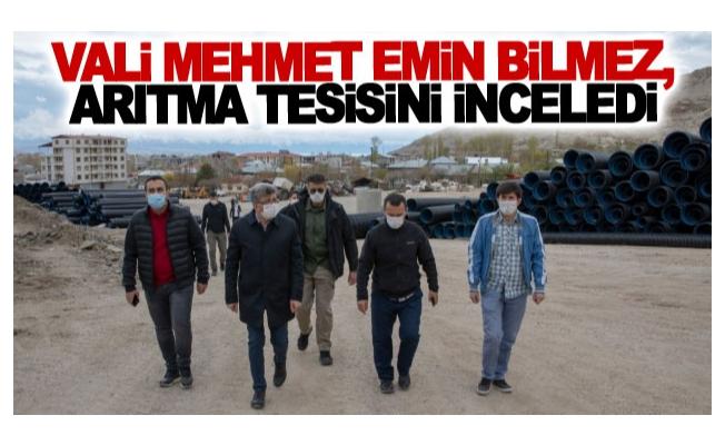 Vali Mehmet Emin Bilmez, arıtma tesisini inceledi