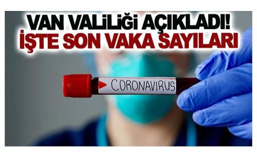 Van'daki korona virüs vakalarında son durum! Vaka sayısı 500'e dayandı