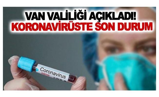 Van'daki Koronavirüste Son Durum
