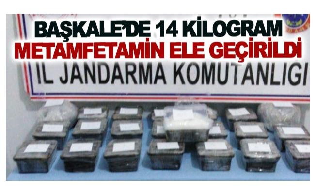 Başkale'de 14 kilogram metamfetamin ele geçirildi