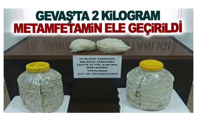 Gevaş'ta 2 kilogram metamfetamin ele geçirildi