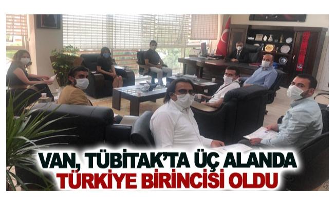 Van, TÜBİTAK'ta üç alanda Türkiye birincisi oldu