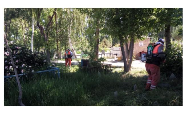 Van'daki mezarlıklarda bakım, onarım ve temizlik çalışması