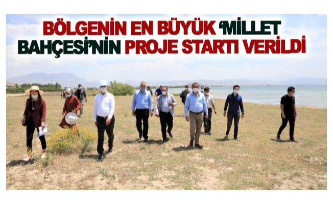 Bölgenin en büyük 'Millet Bahçesinin proje startı verildi