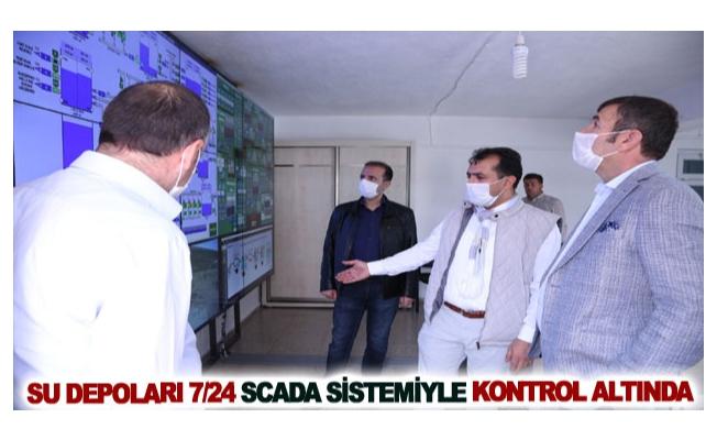 Su depoları 7-24 SCADA sistemiyle kontrol altında