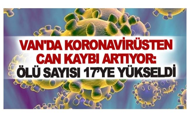 Van'da koronavirüsten can kaybı artıyor: Ölü sayısı 17'ye yükseldi