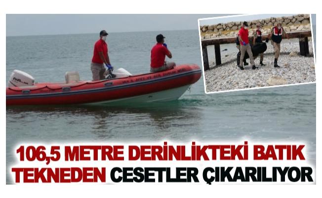 Van Gölün'de 106,5 metre derinlikteki batık tekneden cesetler çıkarılıyor