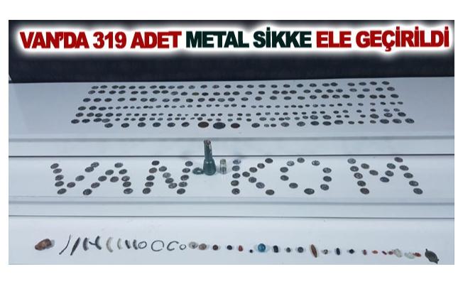Van'da 319 adet metal sikke ele geçirildi