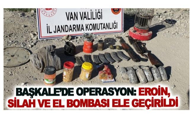 Başkale'de operasyon: eroin, silah ve el bombası ele geçirildi
