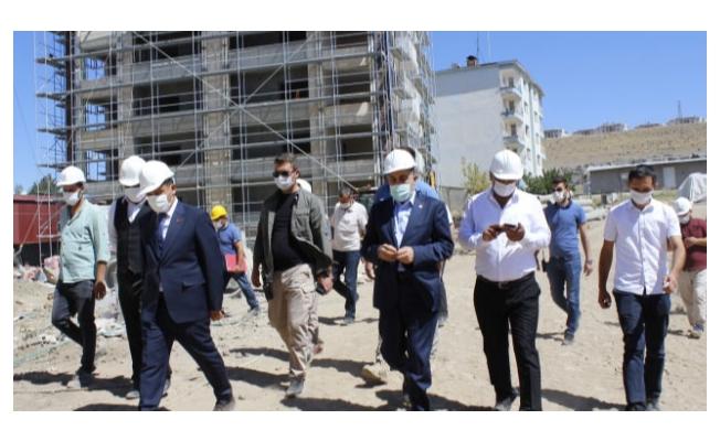 Erciş'te 69 dairelik polis lojmanı yapılıyor