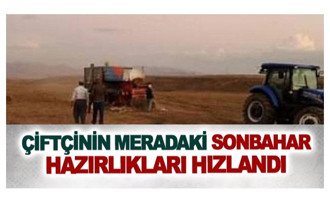 Çiftçinin meradaki sonbahar hazırlıkları hızlandı