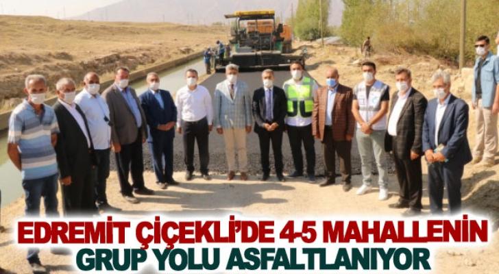 Edremit Çiçekli'de 4-5 mahallenin grup yolu asfaltlanıyor