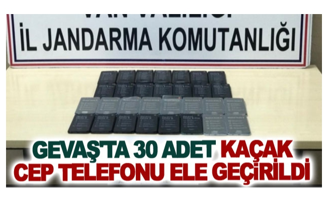 Gevaş'ta 30 adet kaçak cep telefonu ele geçirildi