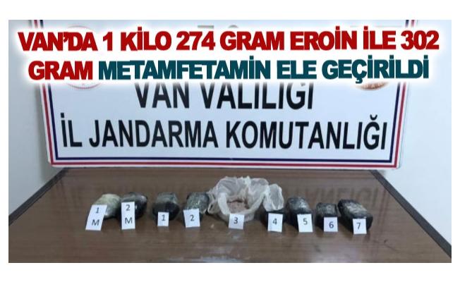 Van'da 1 kilo 274 gram eroin ile 302 gram metamfetamin ele geçirildi