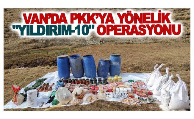 Van'da PKK'ya yönelik Yıldırım-10 operasyonu