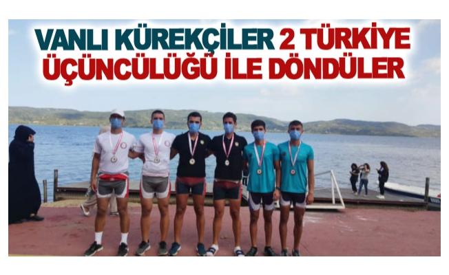 Vanlı kürekçiler 2 Türkiye üçüncülüğü ile döndüler