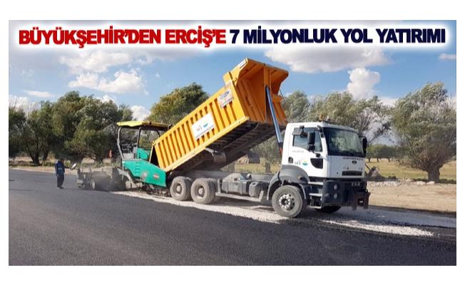 Büyükşehir'den Erciş'e 7 milyonluk yol yatırımı