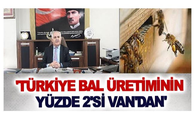 'Türkiye bal üretiminin yüzde 2'si Van'dan'
