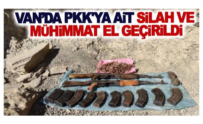 Van'da PKK'ya ait silah ve mühimmat el geçirildi